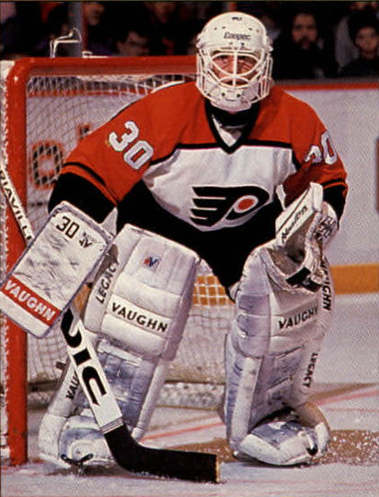 Goaltender Bruce Hoffort would play 9 games in the NHL for the Philadelphia  Flyers 6bc811d57319