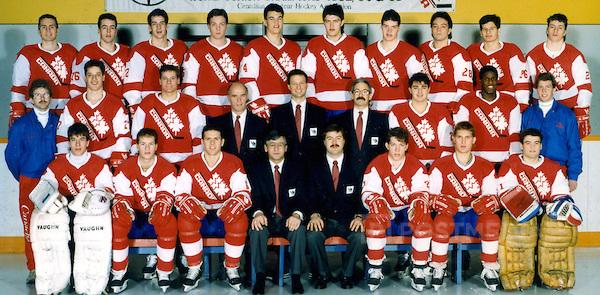 Team Canada World Junior Ice Hockey Championships.